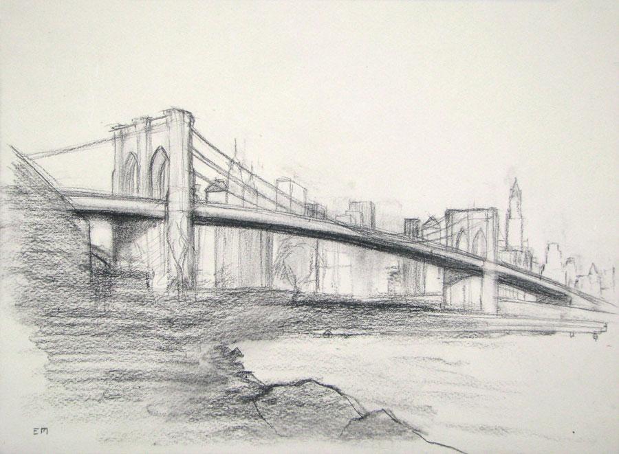 Study of the Brooklyn Bridge