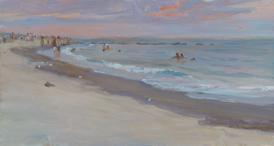 Coney Island Beach Twilight