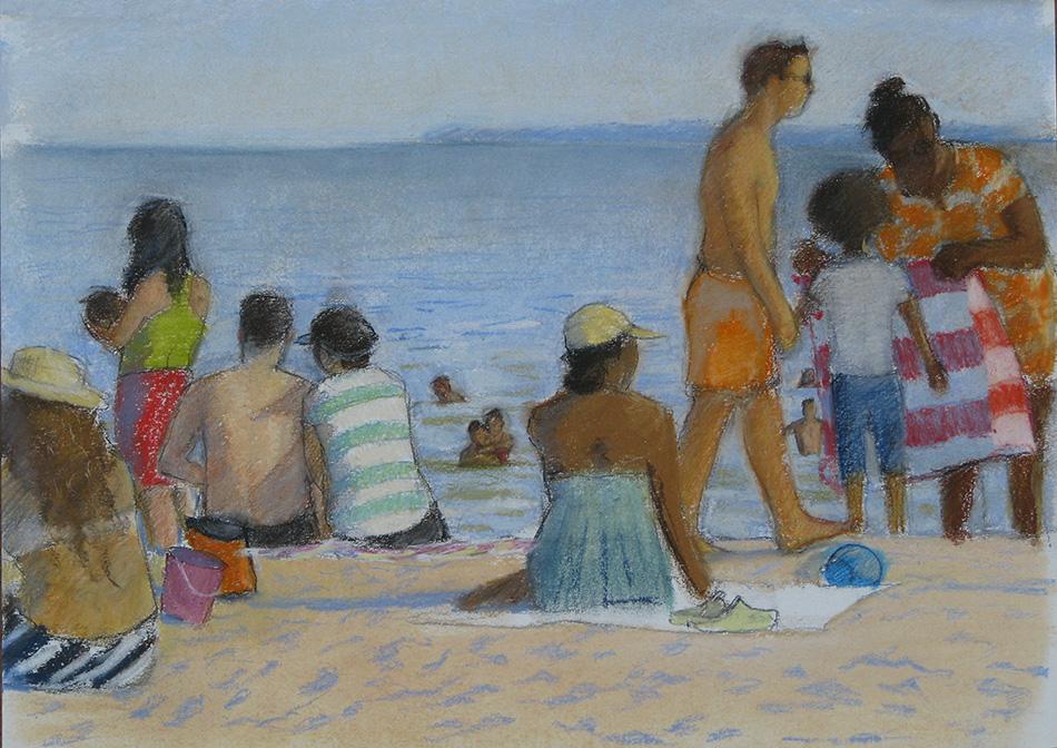 C.I. Beach-Lifeguard Walking