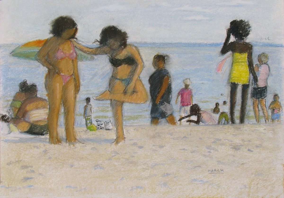 C.I. Beach-Two Girls