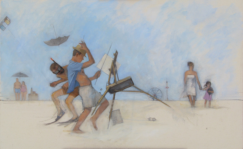 Untitled (Artist and Family on Beach)