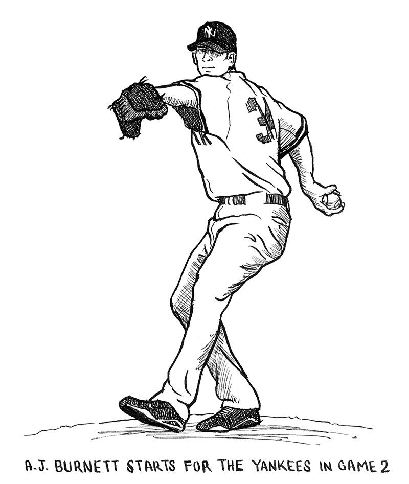 AJ Burnett Pitching