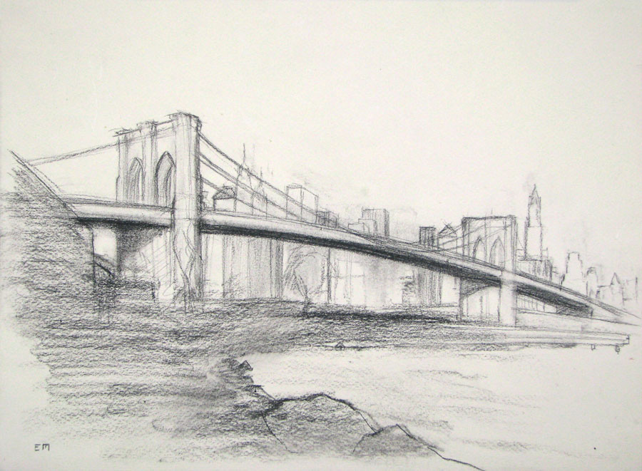 Study of the Brooklyn Bridge
