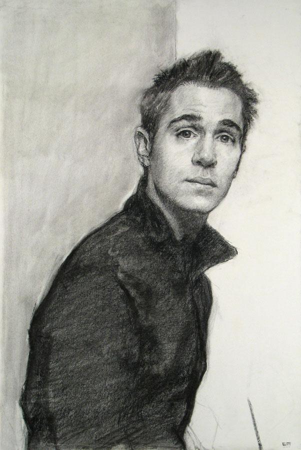 Self Portrait in Black Jumper