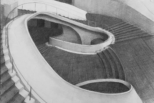 Met Opera Staircase drawing